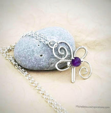 Load image into Gallery viewer, Crystal BFF Best Friends Pendant Necklace .925 Sterling Silver Celtic Crystal Pendant Michelle Louise Inspirations