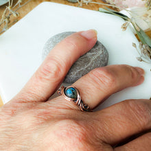 Load image into Gallery viewer, Blue Labradorite Ring Size 7 US - Michelle Louise Inspirations