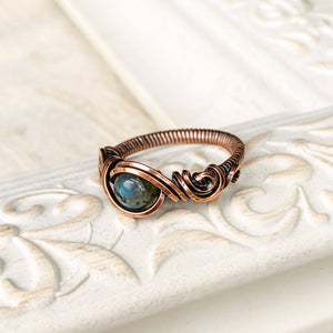 Blue Labradorite Ring Size 7 US - Michelle Louise Inspirations