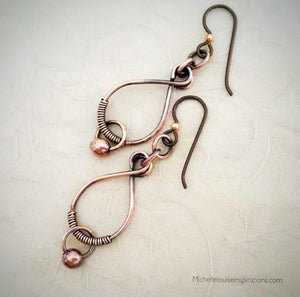 Copper wire earrings Copper Wire Wrapped EarringsMichelle Louise Inspirations