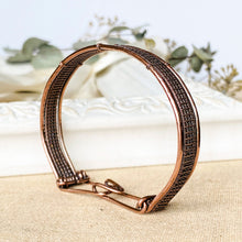 Load image into Gallery viewer, Woven Wire Wrapped Pure Copper Bracelet Wire Wrapped Copper Bracelet Cuff Michelle Louise Inspirations