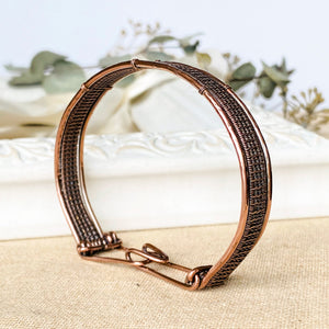 Woven Wire Wrapped Pure Copper Bracelet Wire Wrapped Copper Bracelet Cuff Michelle Louise Inspirations