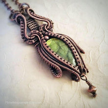 Load image into Gallery viewer, Golden Green Labradorite gemstone necklace - Michelle Louise Inspirations