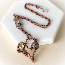 Load image into Gallery viewer, Labradorite Heart Pendant Necklace - Michelle Louise Inspirations