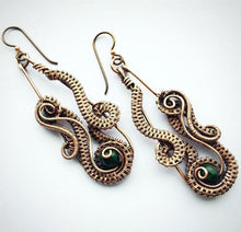 Load image into Gallery viewer, Ocean Wave Wire Wrap Earring PDF Tutorial - Michelle Louise Inspirations