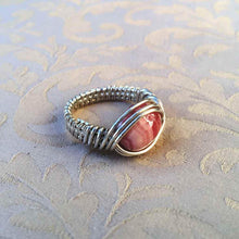 Load image into Gallery viewer, Natural Stone Sterling Silver Wire Wrapped  Ring - Michelle Louise Inspirations