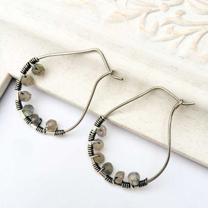 Labradorite Stainless Steel Wire Hoop Ear Hooks Stainless Steel Wire Hoop Ear Hooks Michelle Louise Inspirations