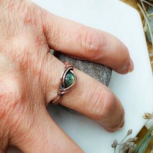 Load image into Gallery viewer, Labradorite Ring Size 6 US to Size 7.5 US - Michelle Louise Inspirations