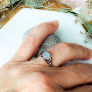 Moonstone Ring Size 7 US - Michelle Louise Inspirations