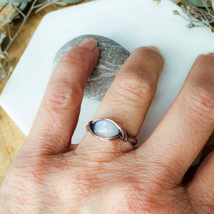 Moonstone Birthstone Ring Size 7 US - Michelle Louise Inspirations