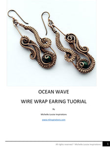 Ocean Wave Wire Wrap Earring PDF Tutorial - Michelle Louise Inspirations