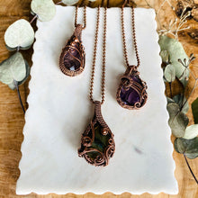 Load image into Gallery viewer, Reversible labradorite necklace Copper Wire Wrapped Pendant Necklace Michelle Louise Inspirations
