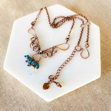Load image into Gallery viewer, Whimsical | Turquoise Opalite Copper necklace Copper Wire Wrap Pendant Necklace Michelle Louise Inspirations