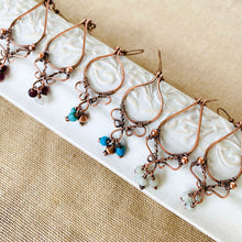 Load image into Gallery viewer, Whimsical | Amazonite copper hoop earrings Copper Wire Wrapped Earring Michelle Louise Inspirations