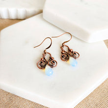 Load image into Gallery viewer, Whimsical | Opalite copper earrings - Michelle Louise Inspirations