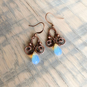 Whimsical | Opalite copper earrings - Michelle Louise Inspirations