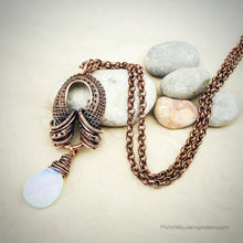Load image into Gallery viewer, Opalite Teardrop Pendant Necklace - Michelle Louise Inspirations