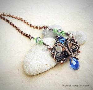 Florence woven wire wrap pendant - Michelle Louise Inspirations