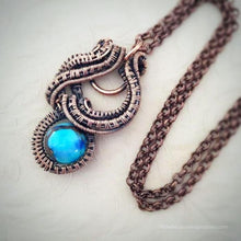 Load image into Gallery viewer, Calligraphy Wire Wrap Pendant Necklace Wire Wrap Pendant Michelle Louise Inspirations