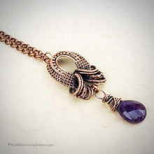 Load image into Gallery viewer, Amethyst Teardrop pendant necklace - Michelle Louise Inspirations