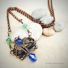 Load image into Gallery viewer, Florence woven wire wrap pendant - Michelle Louise Inspirations