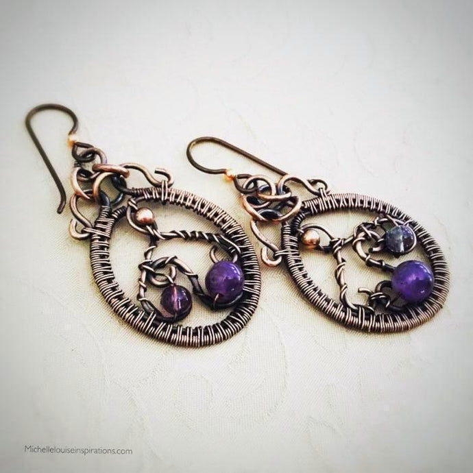 Amethyst Copper Earrings Amethyst Copper EarringsMichelle Louise Inspirations