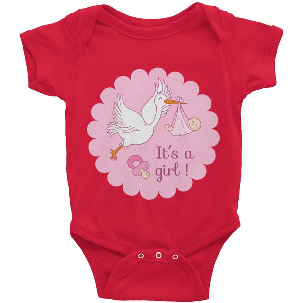 It's A Girl Infant Short Sleeve One-Piece - Baby Belief