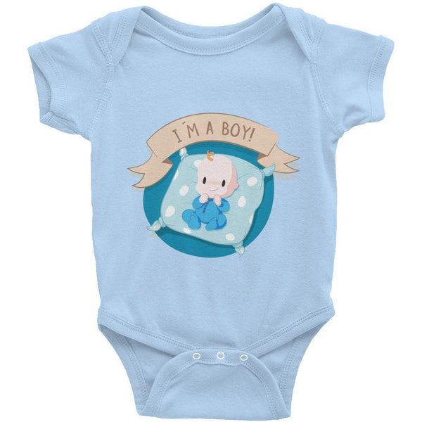 I'm A Boy Infant Short Sleeve One-Piece - Baby Belief