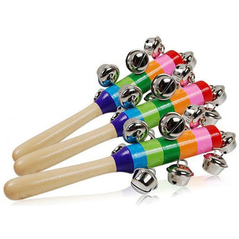 Musical Bell Stick - Wooden Musical Instrument - Baby Belief