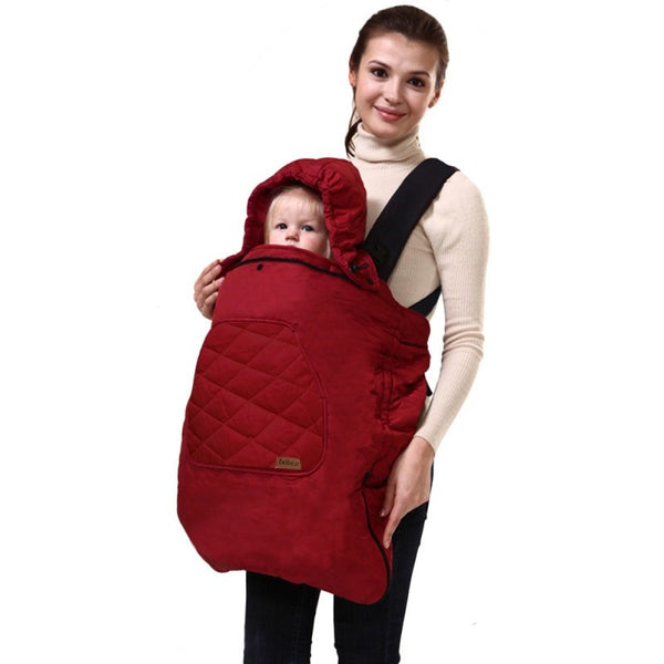 Premium Universal Hoodie All Season Carrier Cover for Baby Carrier - Baby Belief