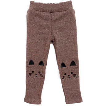 Little Girl Cat Print Leggings - 4 colors - Baby Belief