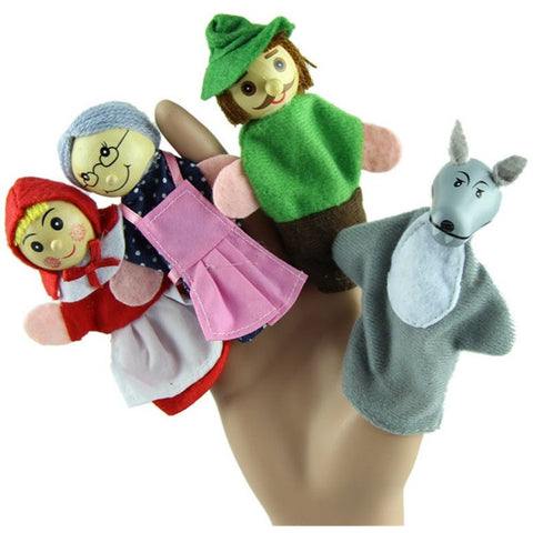 Finger Puppets Toy Gift 4pcs Little Red Riding Hood - Baby Belief