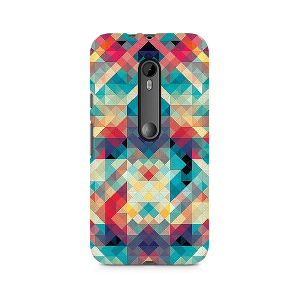 Abstract Criss Cross Premium Printed Moto X Play Case