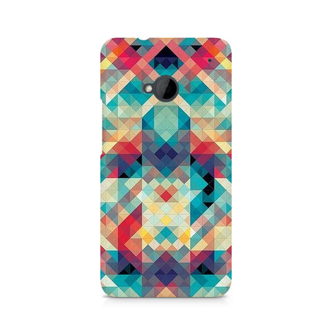 Abstract Criss Cross Premium Printed HTC One M7 Case