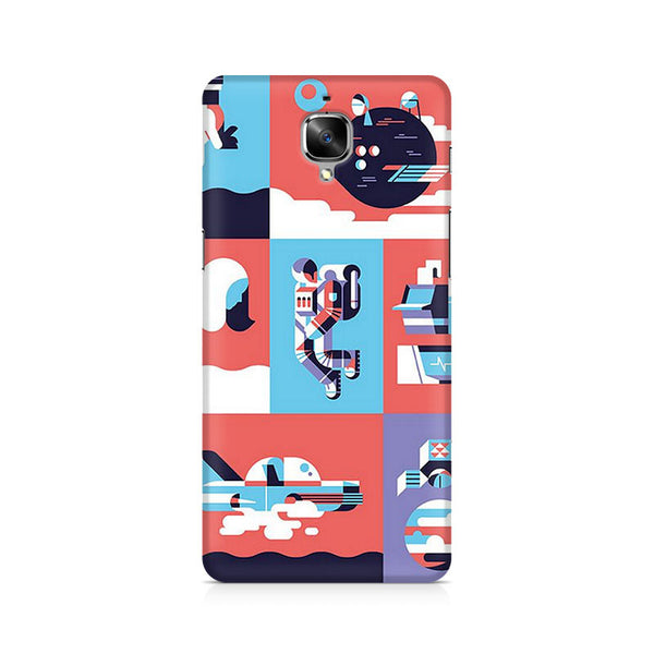 Abstract Travel Premium Printed OnePlus 3 Case