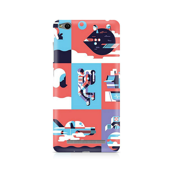 Abstract Travel Premium Printed Xiaomi Redmi 3S Case