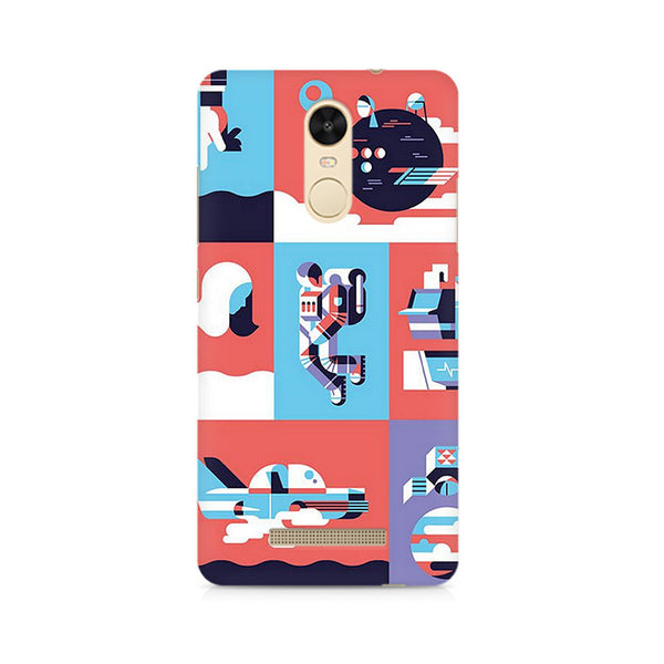 Abstract Travel Premium Printed Xiaomi Redmi Note 3 Case