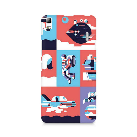 Abstract Travel Premium Printed Lenovo A7000 Case