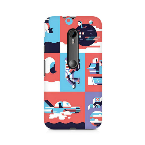 Abstract Travel Premium Printed Moto X Play Case