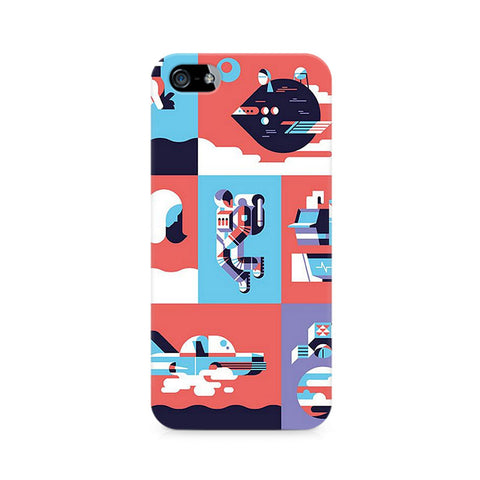 Abstract Travel Premium Printed iPhone 4/4S Case