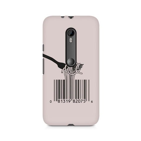 Barcode Noodels Premium Printed Moto X Play Case