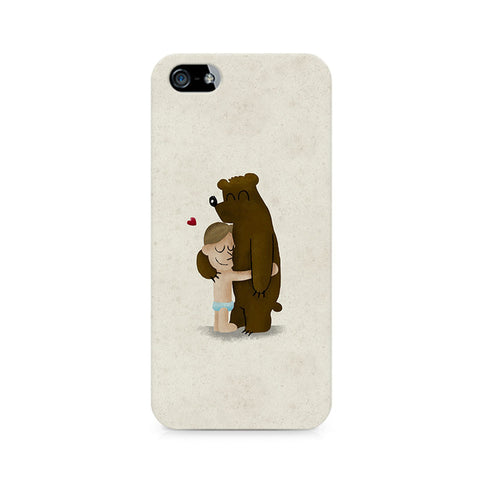 Bear Hug Premium Printed iPhone 4/4S Case