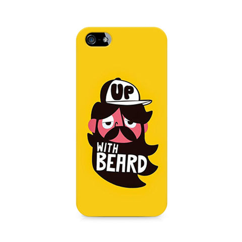 Up With Beard Premium Printed iPhone 5/5S Case