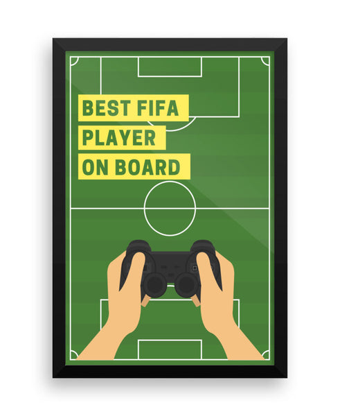 Best FIFA Player On Board Wall Poster