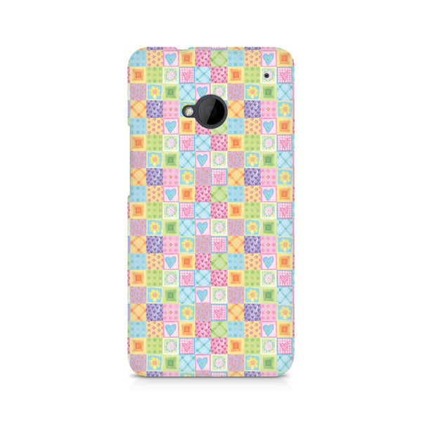 Abtract Heart Fusion Premium Printed HTC One M7 Case