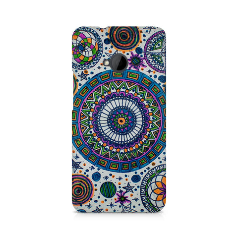 Abstract Colorful Premium Printed HTC One M7 Case
