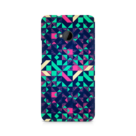 Abstract Wookmark Premium Printed HTC One M7 Case