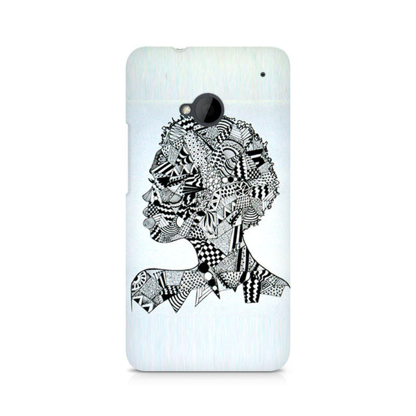 Afro Girl Doodle Premium Printed HTC One M7 Case
