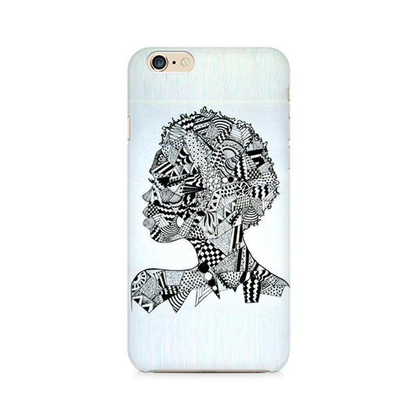 Afro Girl Doodle Premium Printed iPhone 6/6S Case