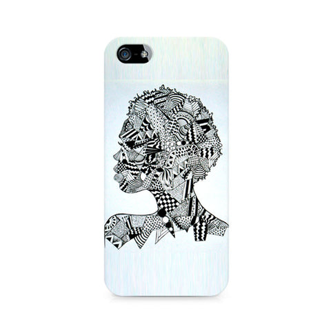 Afro Girl Doodle Premium Printed iPhone 4/4S Case